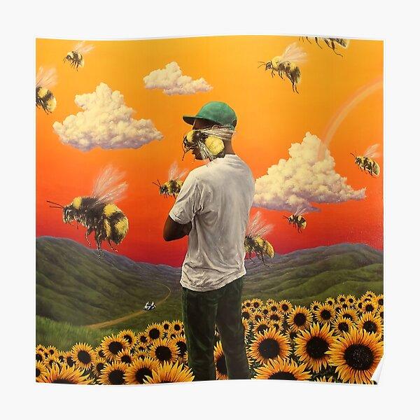flower bee boy Poster