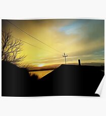 rural sunset Poster