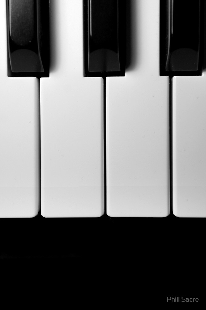 Piano Keys in Monochrome by Phill Sacre
