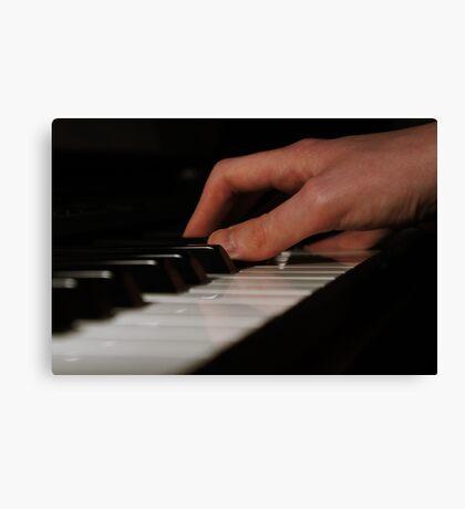 Piano Hands Canvas Print