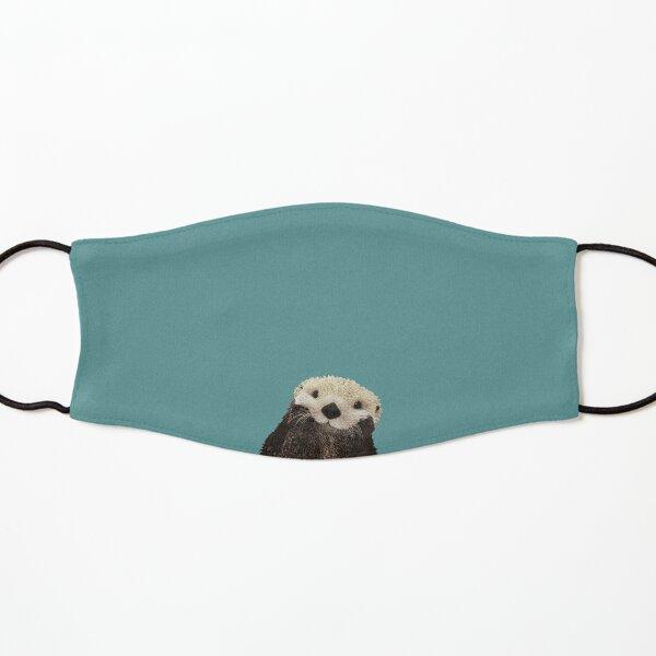Cute Sea Otter on Teal Solid. Minimalist. Coastal. Adorable. Kids Mask