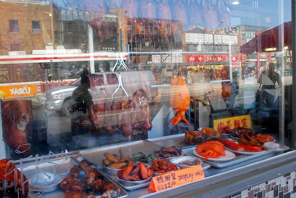Chinatown, Reflected - Toronto Ontario by Debbie Pinard