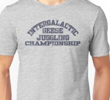 Intergalactic Geese Juggling Championship Unisex T-Shirt