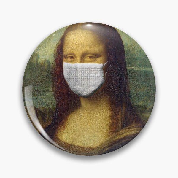Mona Lisa wearing a mask Pin