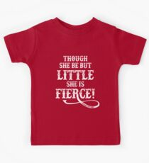 Shakespeare Quote Typography - Though She Be ... Kids T-Shirt