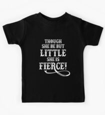 Shakespeare Quote Typography - Though She Be ... Kids Tee
