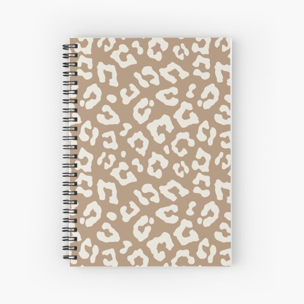 Nude Leopard Print Spiral Notebook