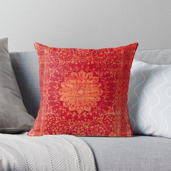Vintage Oriental Antique Moroccan Style Mandala Throw Pillow
