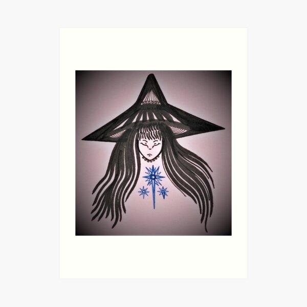 Sleeping Witch Star Art Print
