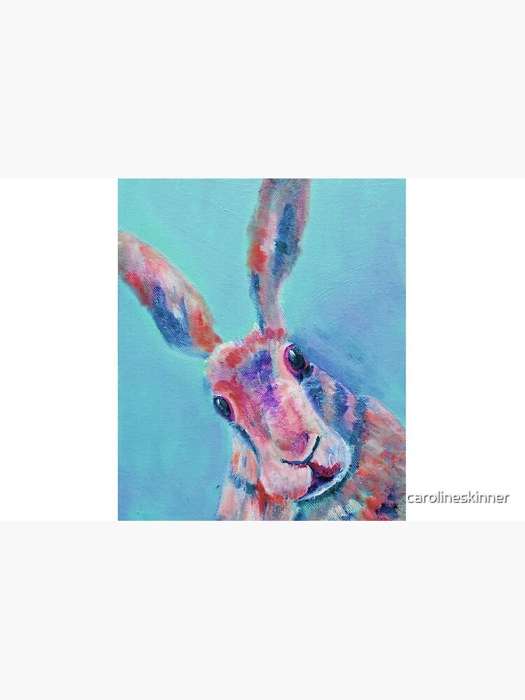 Cute Light Blue Hare  by carolineskinner