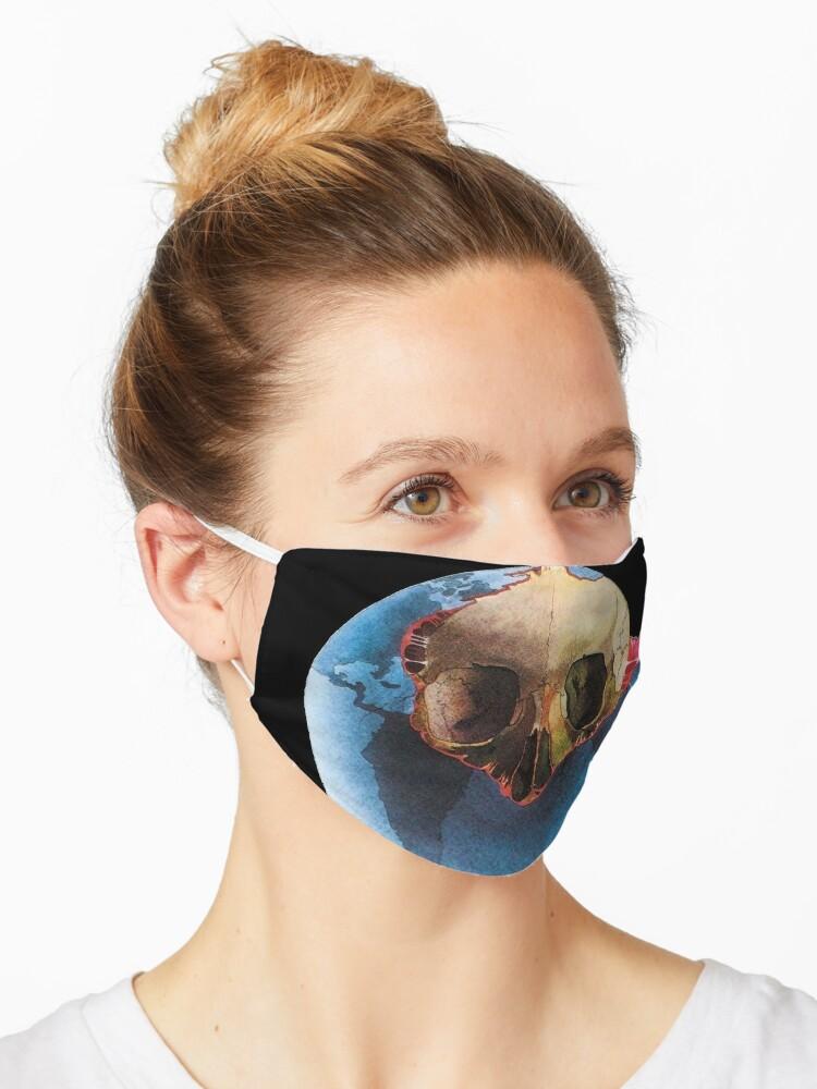Jean Michel Jarre Oxygene Electronic Vintage Lp Vinyl Underground 80s Music Mask By Alessandra C Redbubble