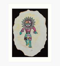 Hopi Sundancer Kachina Doll Art Print