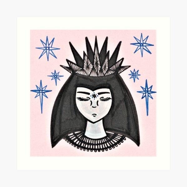 Snow White And The Seven Stars Art Print