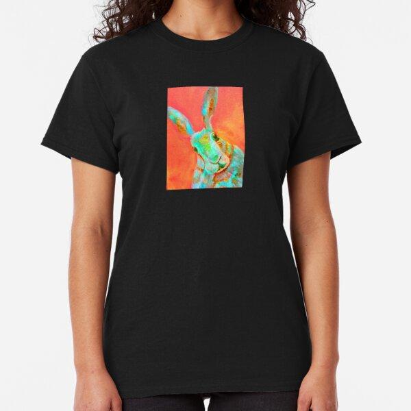 Neon Orange Hare Image Classic T-Shirt