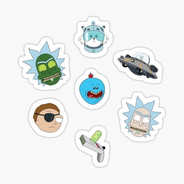 Ricky and Morty so I can Sticker
