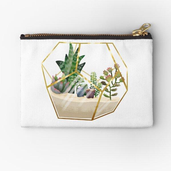 Terrarium mit Sukkulenten Täschchen