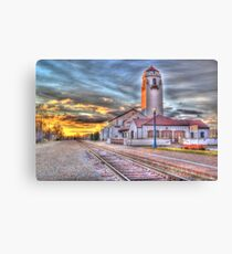 Sunset Depot - Graphic Novel Canvas Print