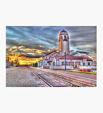 Sunset Depot - Graphic Novel Photographic Print