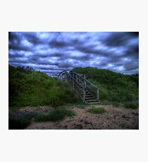 Beach Stairs Photographic Print