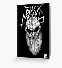 Black Metal Greeting Card