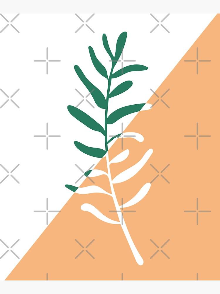 Modern minimal style olive tree branch illustration  by sziszigraphics