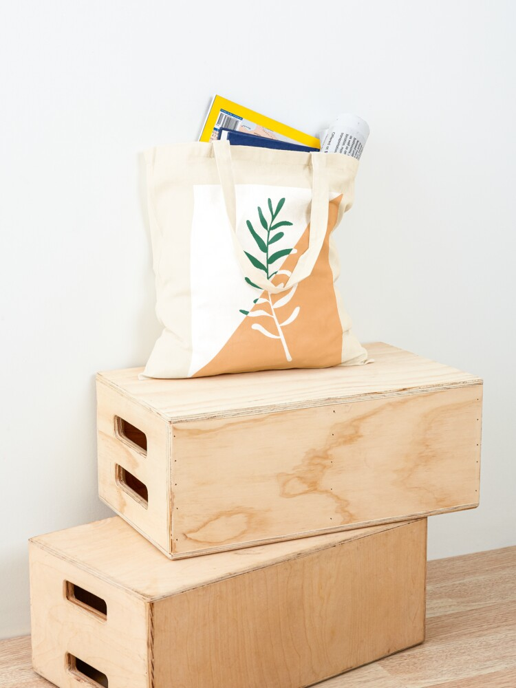 Alternate view of Modern minimal style olive tree branch illustration  Tote Bag