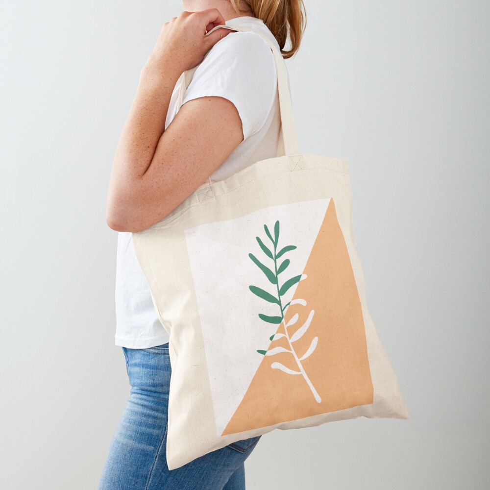 Modern minimal style olive tree branch illustration  Tote Bag