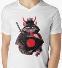Samurai Cat Men's V-Neck T-Shirt