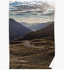 Crown Range Road Poster