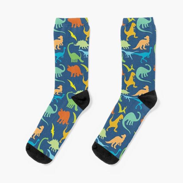 Colorful Dinosaur Pattern  Socks