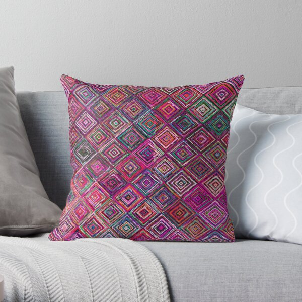 Colored illusions Oriental Traditional Moroccan Style Throw Pillow