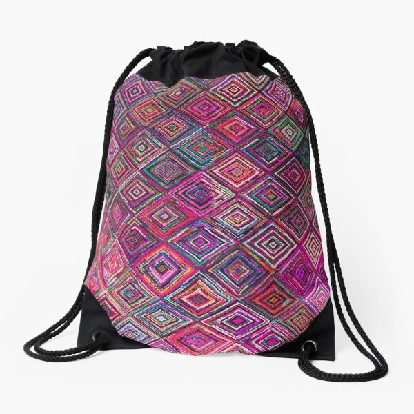 Colored illusions Oriental Traditional Moroccan Style Drawstring Bag