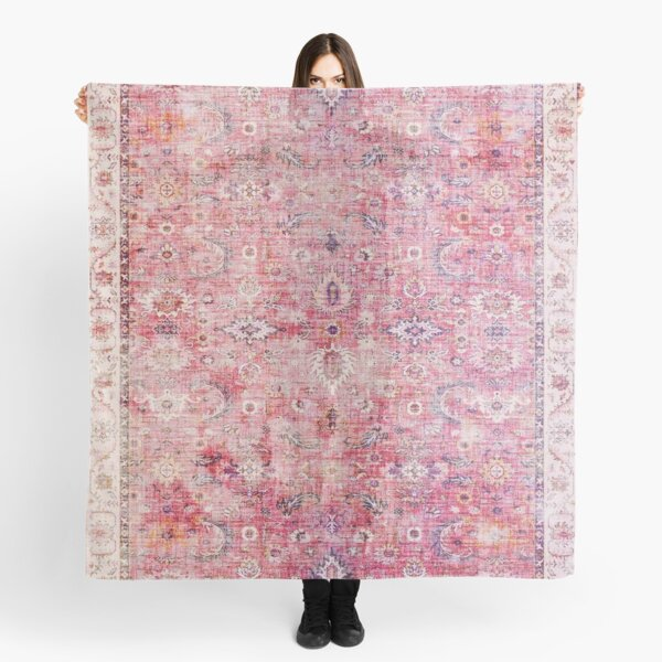Antique Traditional Pink Oriental Moroccan Style  Scarf