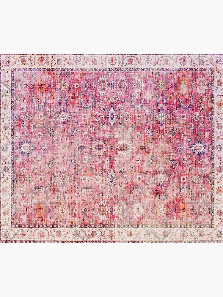 Antique Traditional Pink Oriental Moroccan Style  by Arteresting