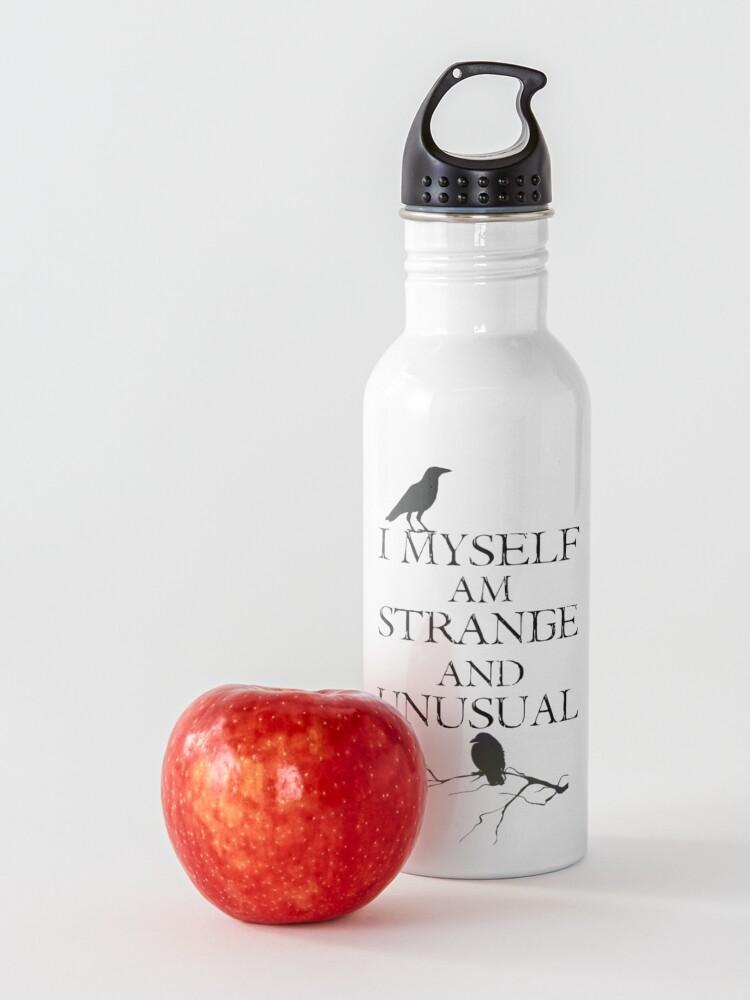 Alternate view of I Myself Am Strange & Unusual Water Bottle
