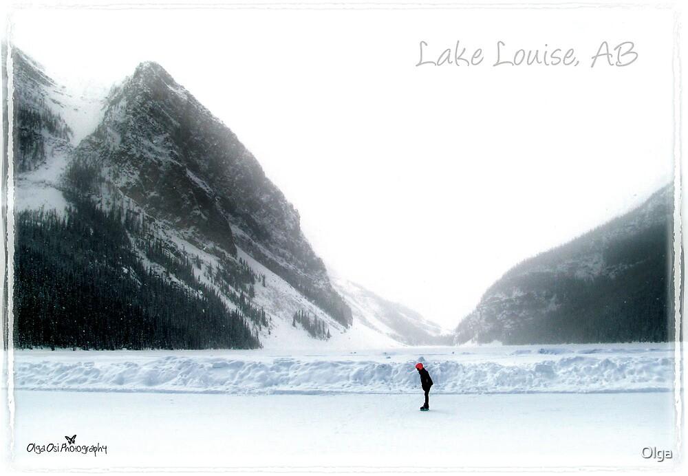 Lake Louise postcard by Olga