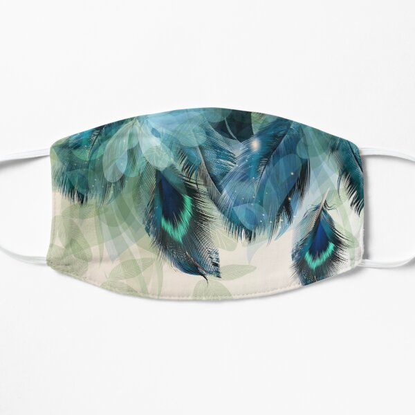 Peacock Feather Flat Mask