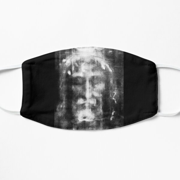 Shroud of Turin. Turin Shroud. Christianity, Christian, Icon, Bible, Biblical, Resurrection. Flat Mask