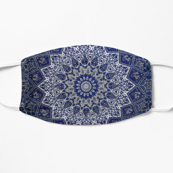 Andalusia Blue Alhambra Traditional Moroccan Artwork  Mask