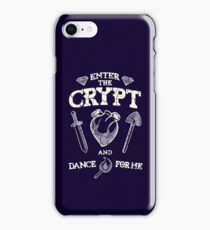 Enter the crypt. iPhone Case/Skin