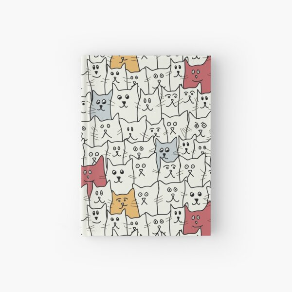 A lot of Funny Cats Hardcover Journal