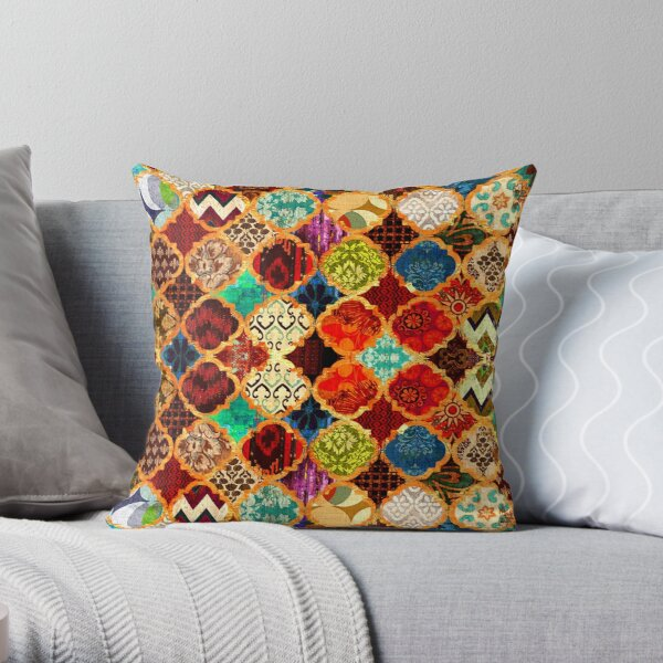 Epic Colored Traditional Moroccan Artwork. Throw Pillow