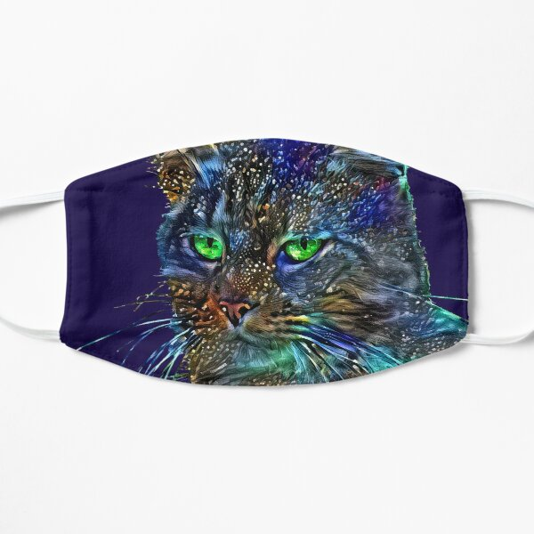Artificial neural style Starry night wild cat Mask