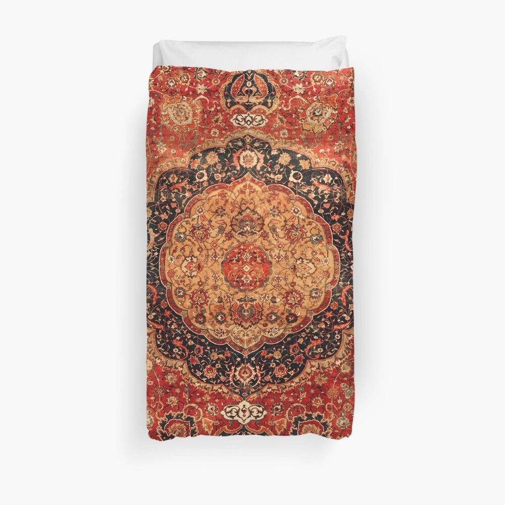 Seley Antique Persian Rug Print Duvet Cover