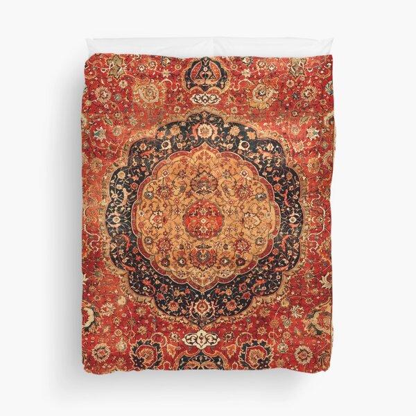 Seley Antique Persian Rug Print Duvet Cover