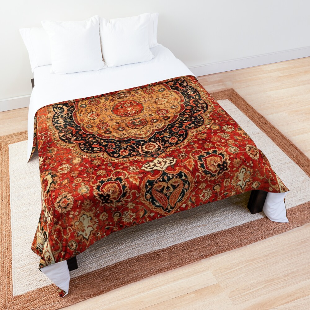 Seley Antique Persian Rug Print Comforter