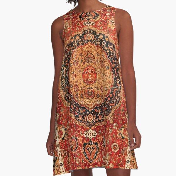 Seley Antique Persian Rug Print A-Line Dress