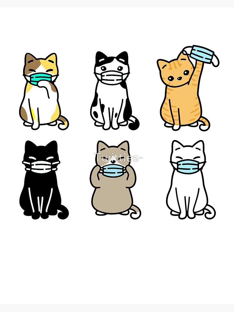 Cat Face Mask Cute Pet Kitten Lovers Gift Art Board Print By