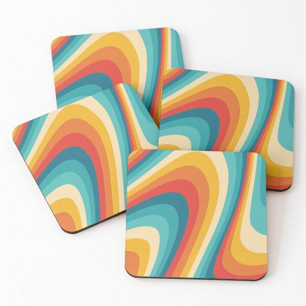 70s Retro Aesthetic Coasters (Set of 4)