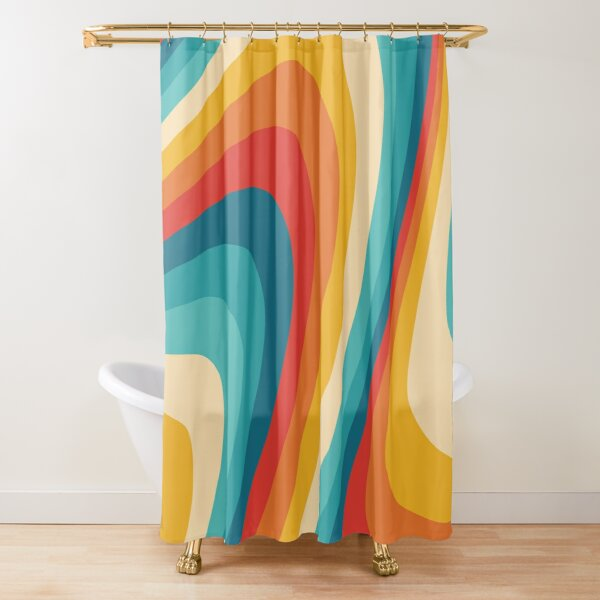 70s Retro Aesthetic Shower Curtain